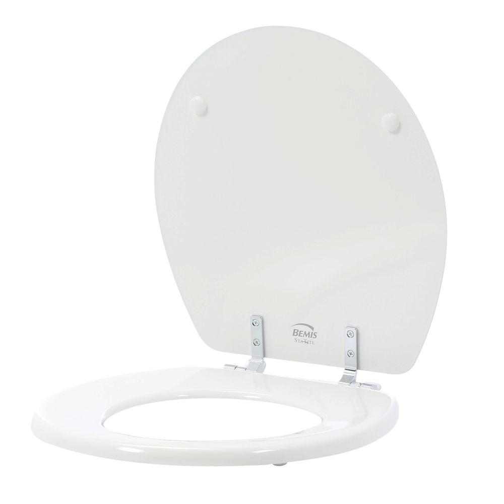 STA-TITE Round Closed Front Toilet Seat in White