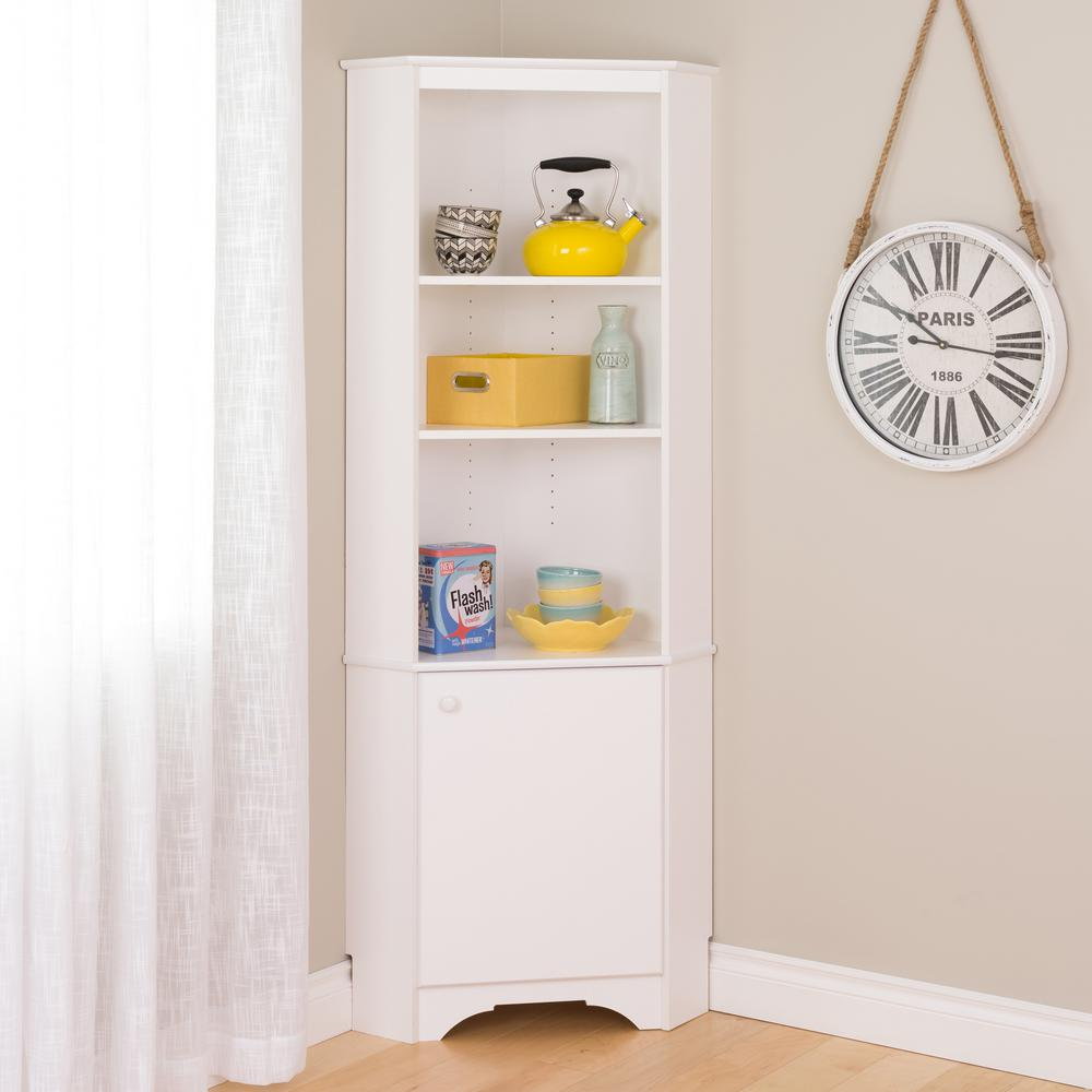 Great Prepac Elite Tall White Storage Cabinet