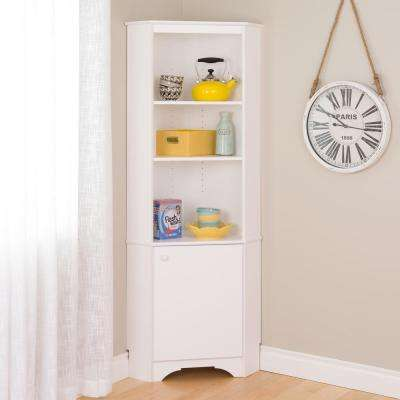 Elite Tall White Storage Cabinet