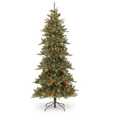 7-1/2 ft. Richland Blue Fraser Fir Hinged Tree with Cones and 450 Clear Lights