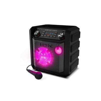 50-Watt Stadium Bluetooth Tailgate Speaker Portable Rechargeable AM/FM Includes Mic and Cable Black