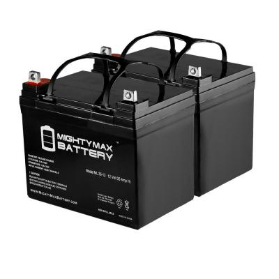 12-Volt 35 Ah SLA (Sealed Lead Acid) AGM Type Medical Mobility Replacement Battery (2-Pack)