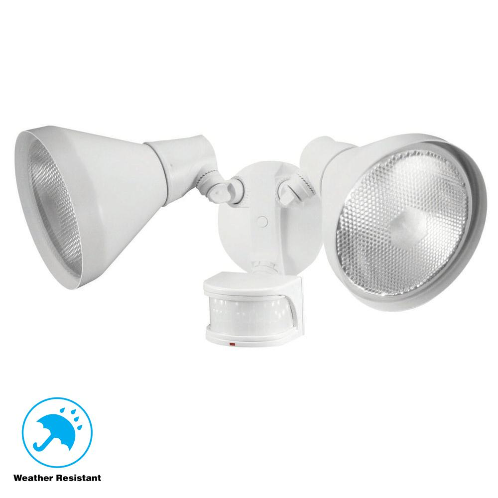 Defiant 110-Degree White Motion Sensing Outdoor Security Light