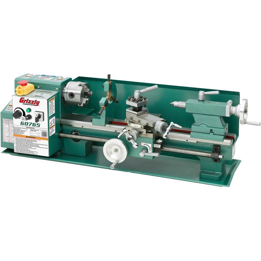Grizzly Industrial 7 in  x 14 in  Variable-Speed Benchtop Lathe