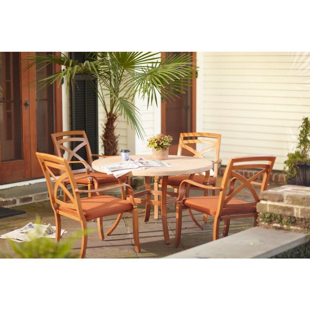 Hampton Bay Bayside 5-Piece Dining Patio Set-DISCONTINUED