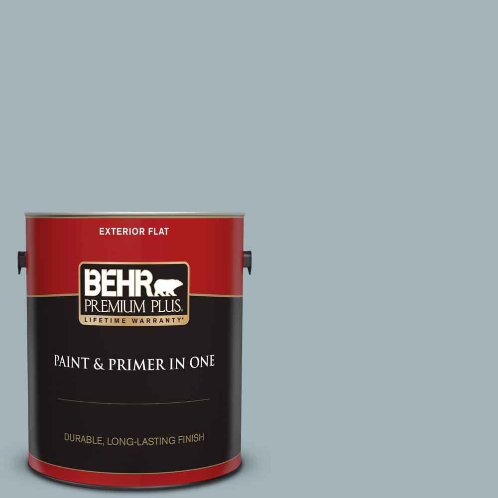 Behr Premium Plus 1 Gal Ppf 27 Porch Ceiling Flat Exterior Paint And Primer In One