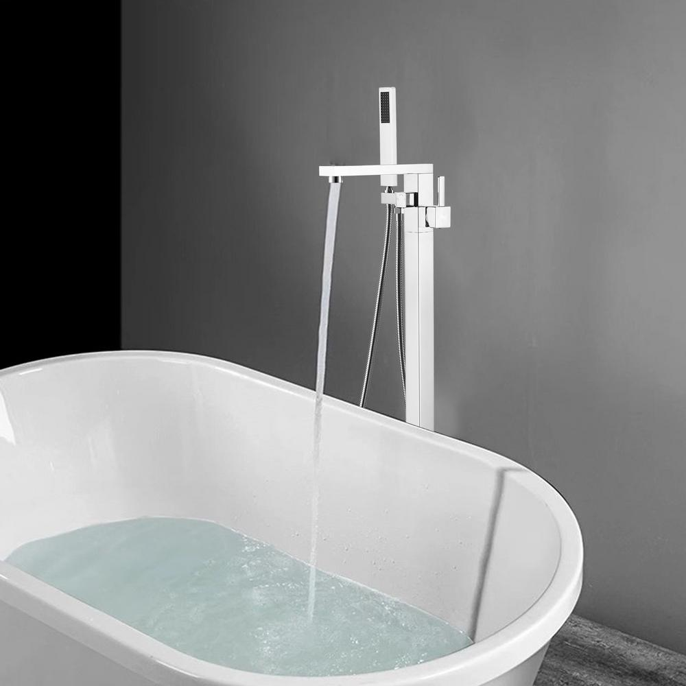 Vanity Art 34 in. H x 12 in. W Single Handle Claw Foot Tub Faucet with Hand Shower in Polished Chrome was $336.0 now $235.2 (30.0% off)