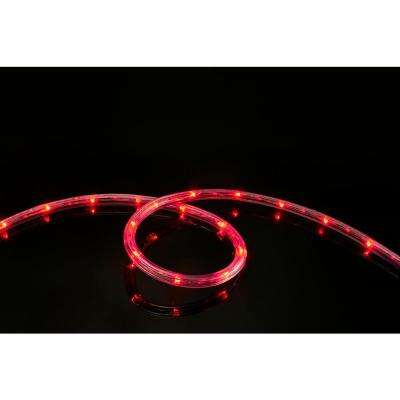 16 ft. 108-Light- Light LED Red All Occasion Indoor Outdoor LED Rope Light 360° Directional Shine Decoration