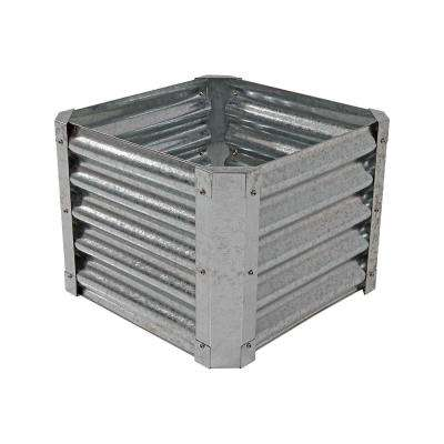 22 in. Raised Galvanized Steel Garden Bed Square