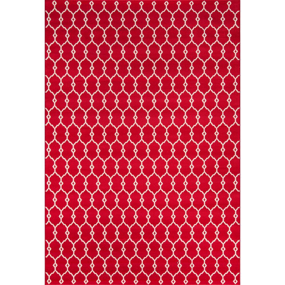 Momeni Baja Red 2 ft. x 5 ft. Indoor/Outdoor Area Rug
