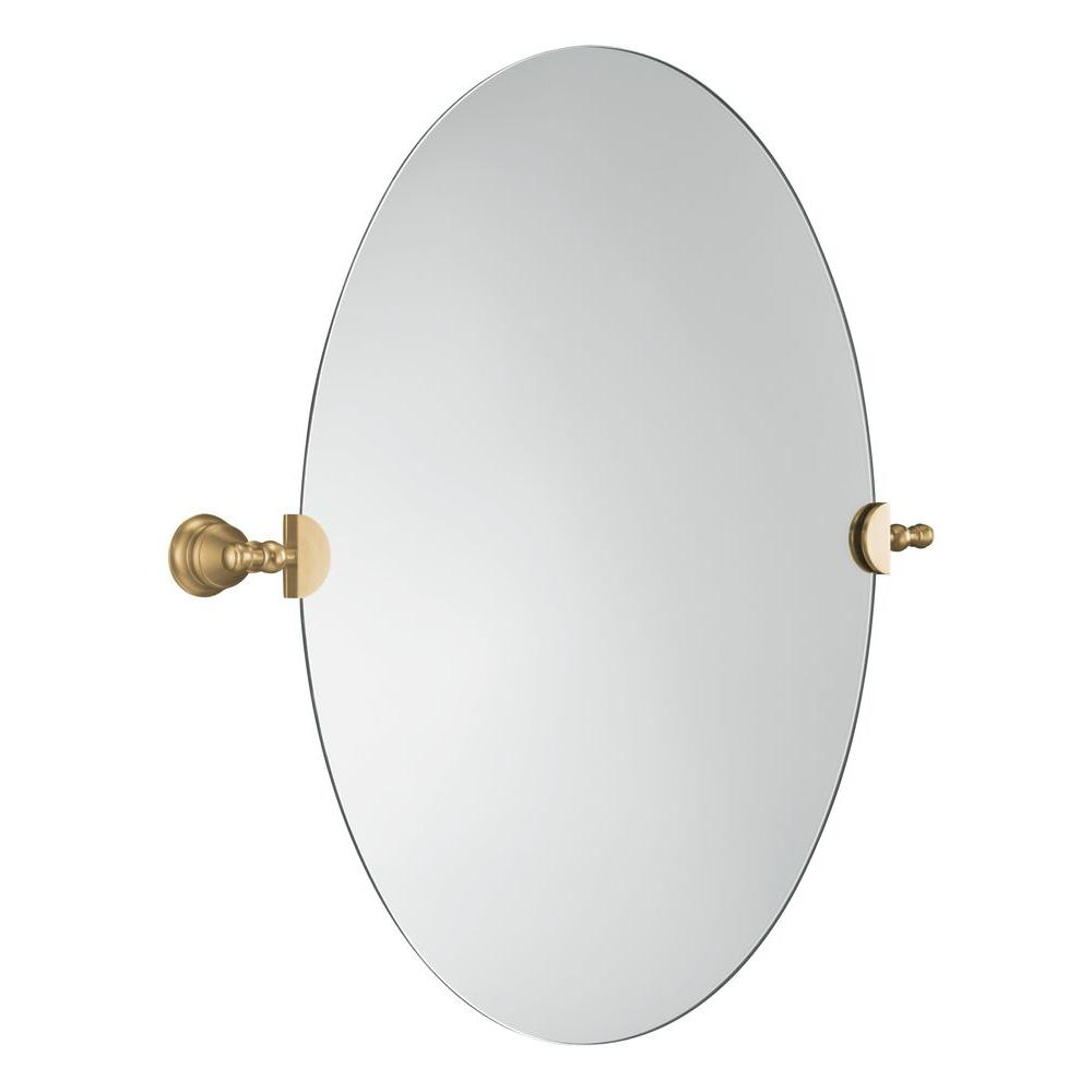 Kohler Revival 29 In X 26 Oval Mirror Vibrant Brushed Bronze