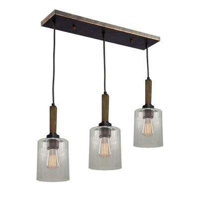 3-Light Brunito Bronze Billiard Light