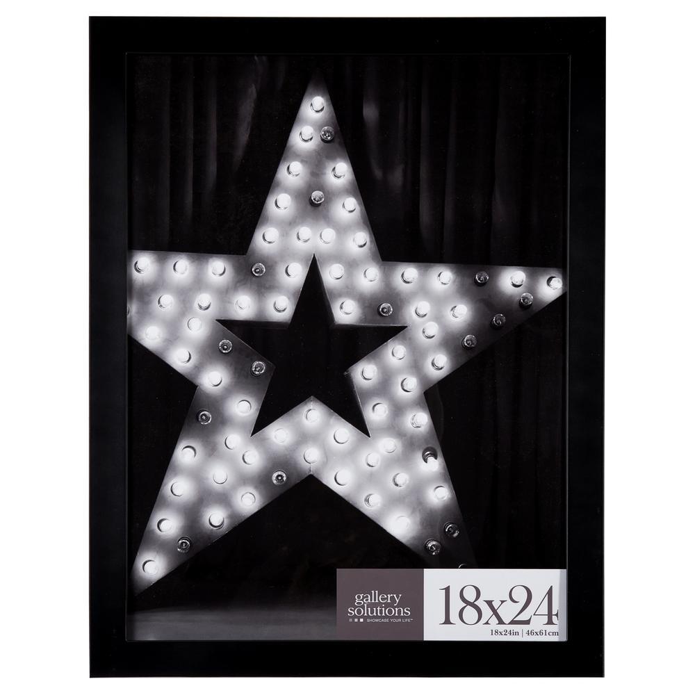 18 in. x 24 in. Black Flat Picture Frame
