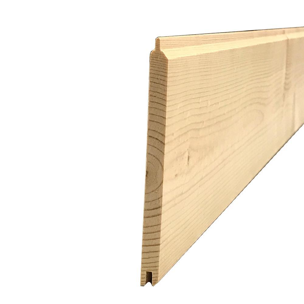 Hakwood 5/16 in. x 3-11/16 in. x 8 ft. Knotty Pine Edge V-Plank Kit (3-Pack per Box)