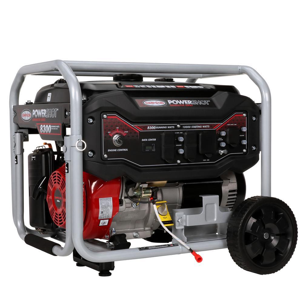 Simpson 8,300-Watt Gasoline Powered Electric Start Portable Generator