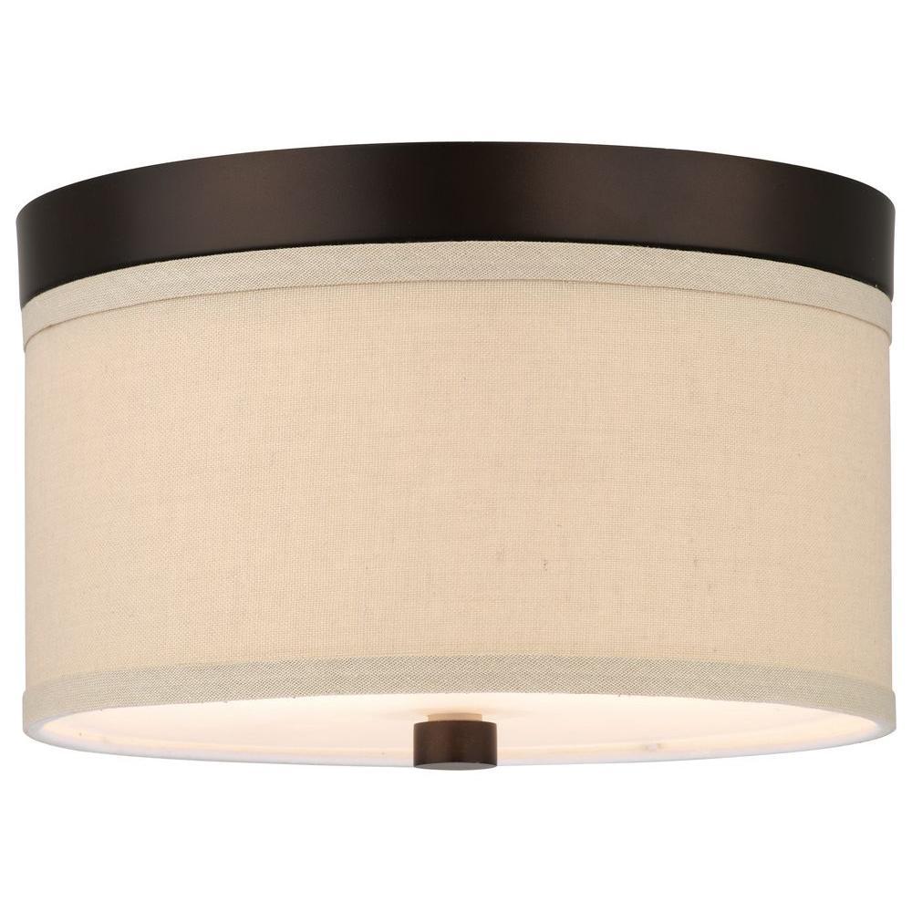 Philips Embarcadero 2-Light Sorrel Bronze Ceiling Fixture