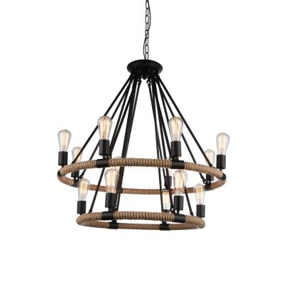 Ganges 14-Light Black Chandelier