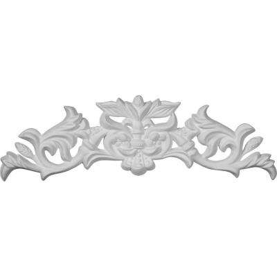 5/8 in. x 11-3/4 in. x 3-1/2 in. Polyurethane Pearl Center with Scrolls Onlay Moulding