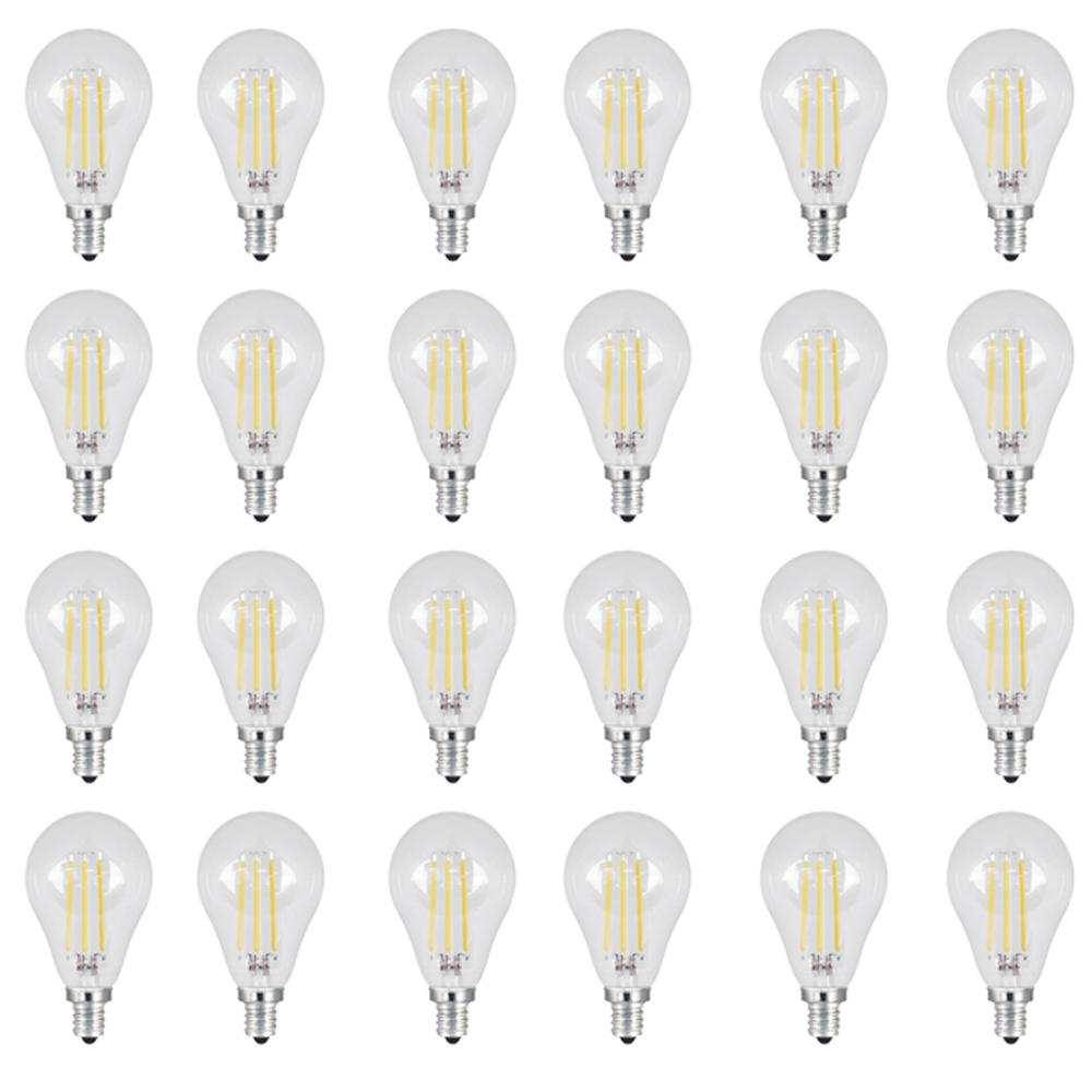 60W Equivalent Daylight (5000K) A15 Candelabra Dimmable Filament LED Clear Glass