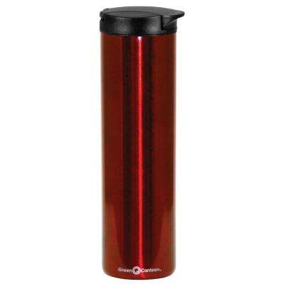 16 oz. Red Double Wall Stainless Steel Travel Mug (6-Pack)