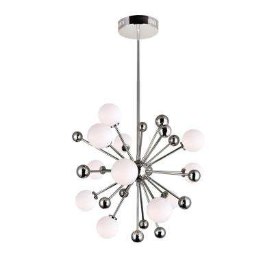 Element 11-Light Polished Nickel Contemporary Chandelier