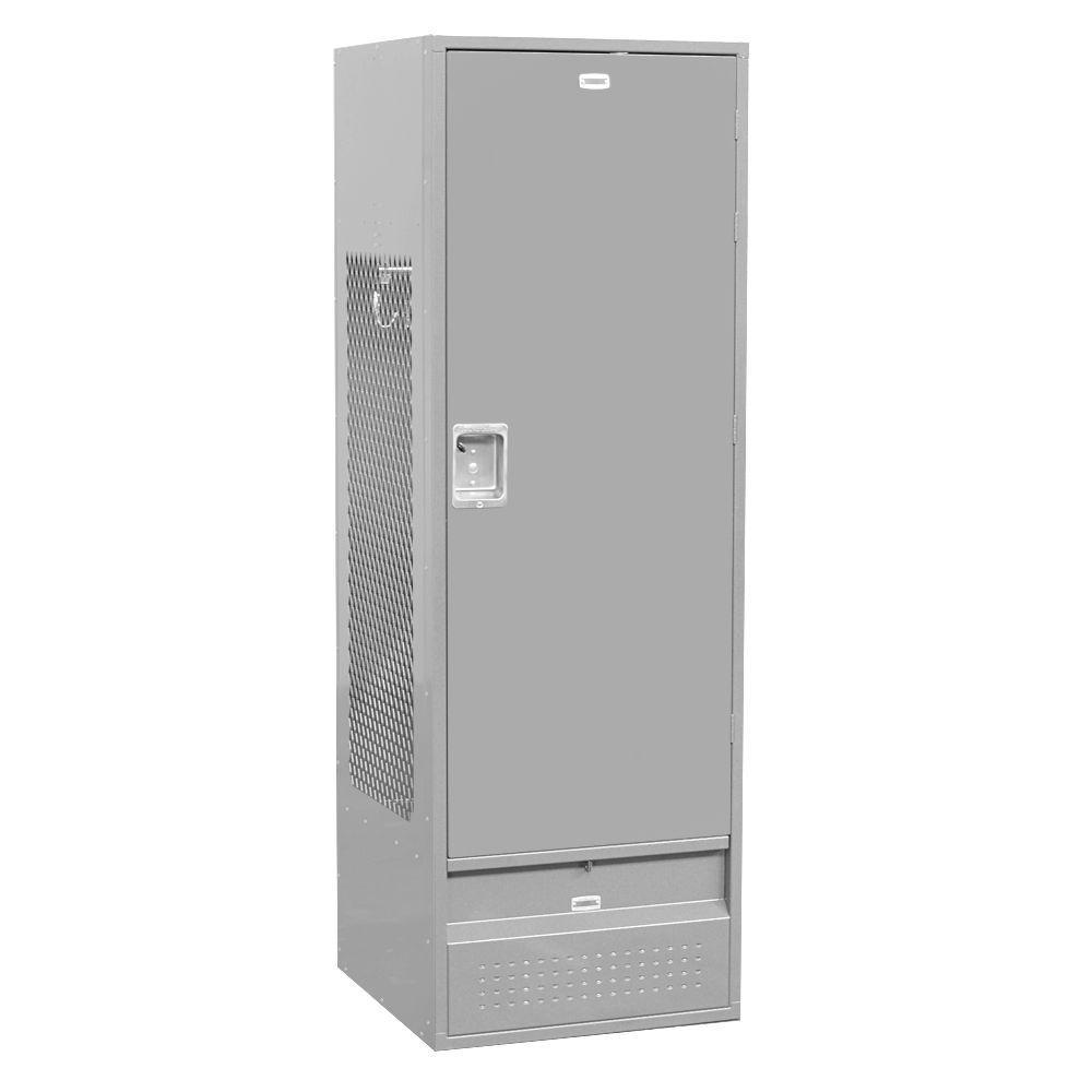 71000 Series 24 in. W x 78 in. H x 24 in. D - Gear Metal Locker with Solid Door Unassembled in Gray
