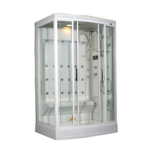 Aston ZA219 52 inch x 39 inch x 85 inch Steam Shower Right Hand Enclosure Kit in White with 24 Body Jets by Aston