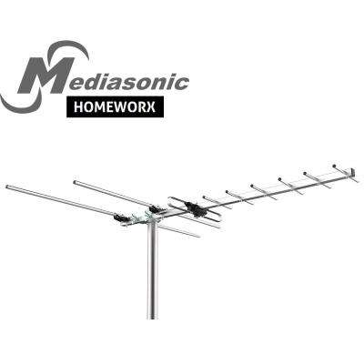 HomeWorx HDTV Digital TV Outdoor Antenna 80 Miles Range Support UHF/VHF/FM