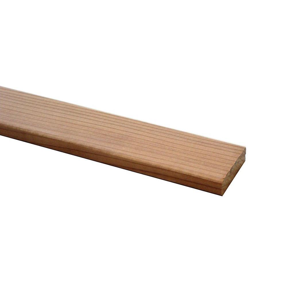 Redwood B Grade Heart Board (Common: 5/8 in. x 1-3/8 in.