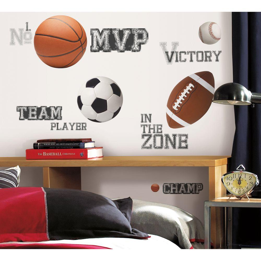 RoomMates All Star Sports Saying Peel and Stick Wall Decal & RoomMates All Star Sports Saying Peel and Stick Wall Decal ...