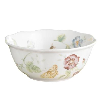 Butterfly Meadow 34 oz. Porcelain Multi Color Large All Purpose Bowl