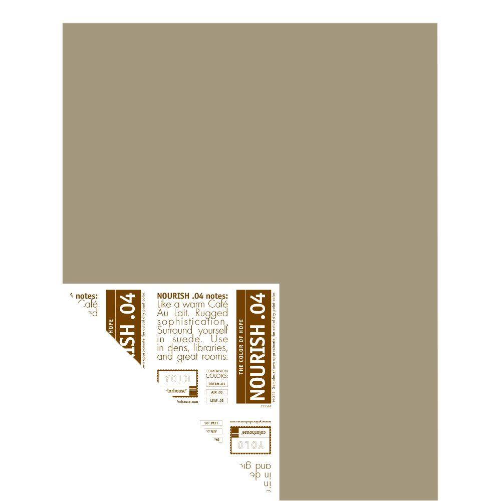 YOLO Colorhouse 12 in. x 16 in. Nourish .04 Pre-Painted Big Chip Sample