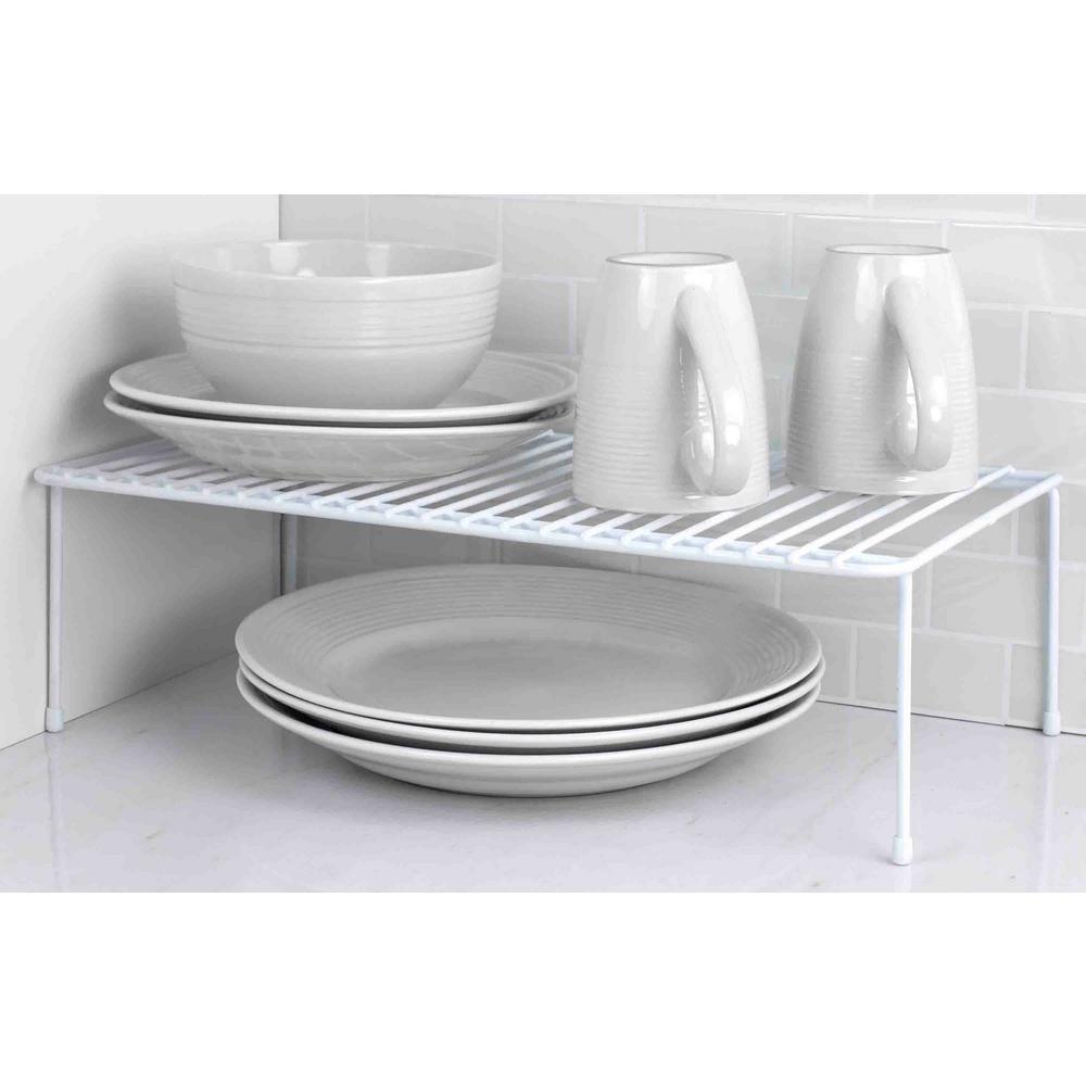 Home Basics White Vinyl Coated Steel Dish Rack SS44426