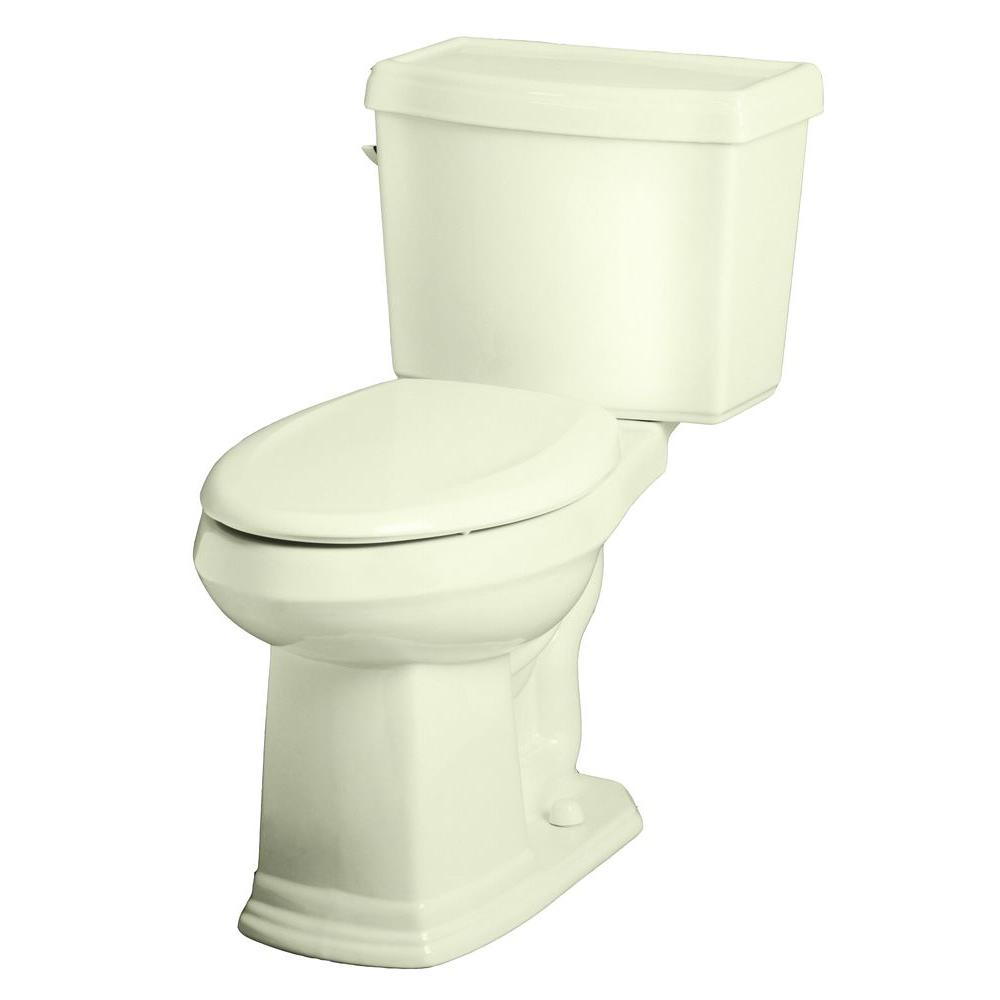 Gerber Allerton 2-Piece High Efficiency Elongated ErgoHeight Toilet in Biscuit