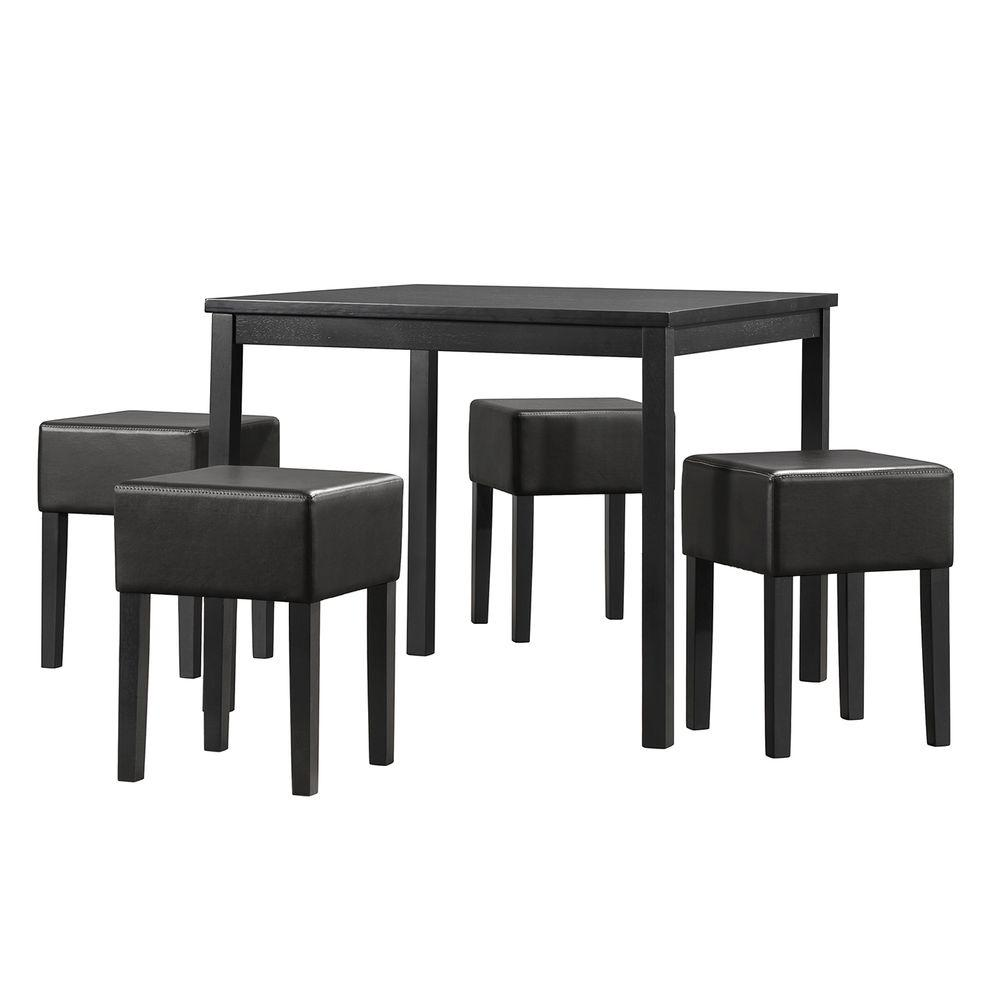 HomeSullivan Trenton 5-Piece Black Dining Set