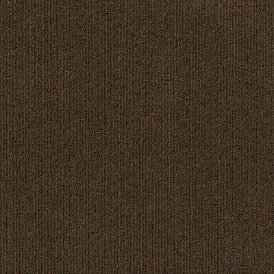 Premium Self-Stick First Impressions High Low Rib Mocha Texture 24 in. x 24 in. Carpet Tile (15 Tiles/60 sq. ft./case)
