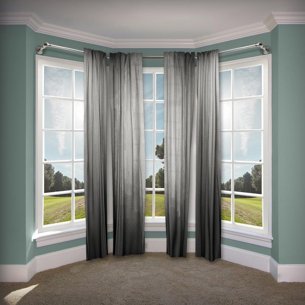Rod Desyne 1 In Pipe Bay Window Single Curtain Rod 23 In 41 In