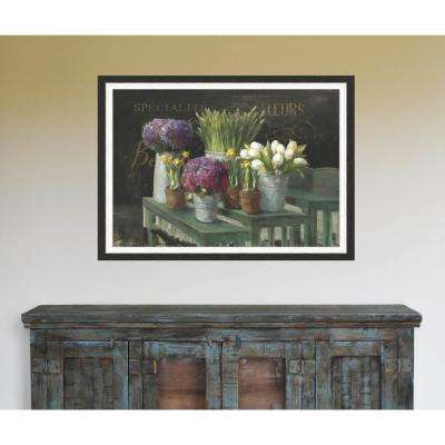 29 in x 41 in 'Les Fleurs Printemps' by Danhui Nai Textured Paper Print Framed Wall Art