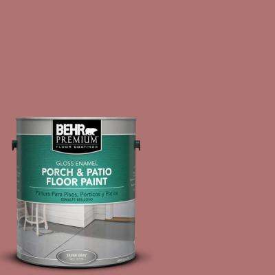 1 gal. #S140-5 Red Gerbera Gloss Porch and Patio Floor Paint
