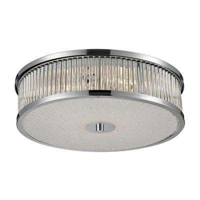 Amersham 4-Light Chrome Ceiling Mount Flushmount