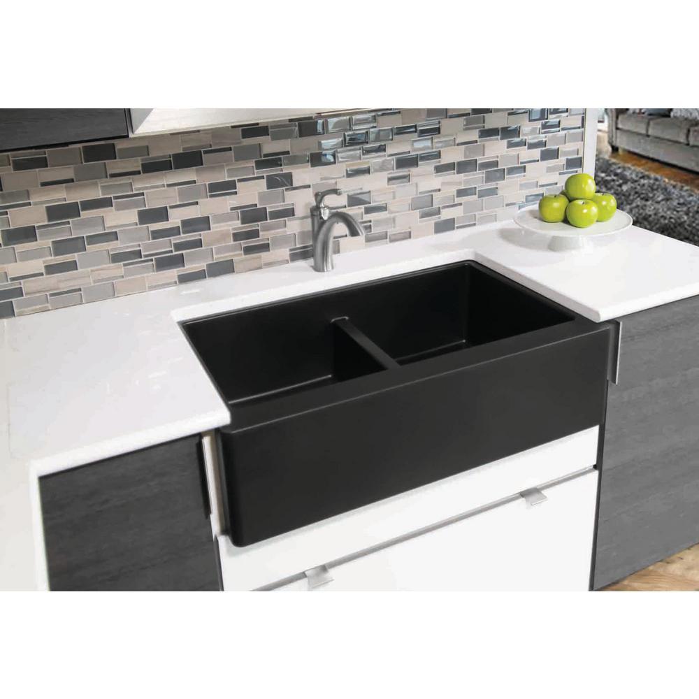 Quartz Composite Kitchen Sink 34 In No Chip Apron Front