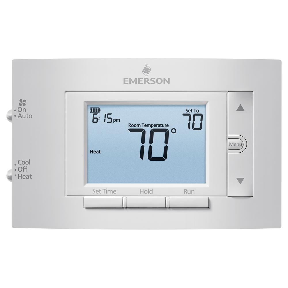 Emerson 7-Day Programmable Conventional (1H/1C) Digital Thermostat