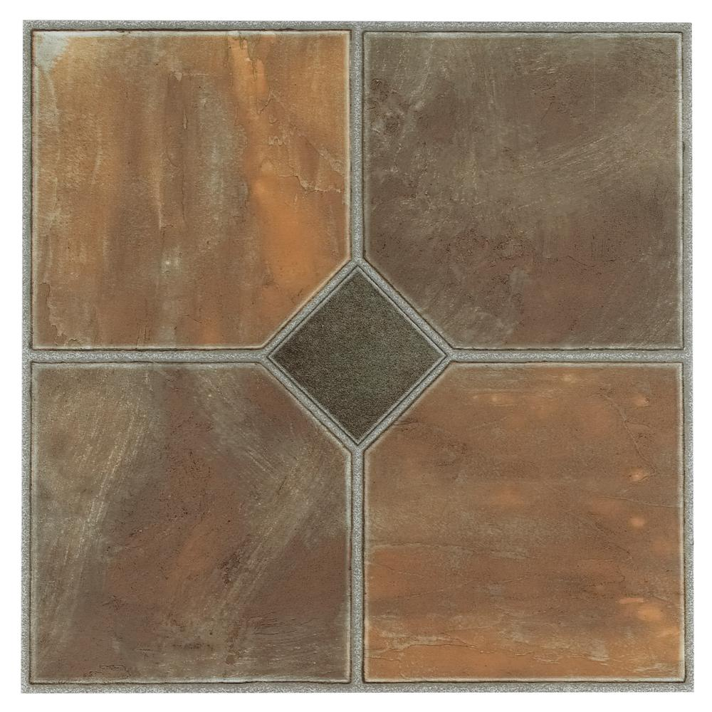 Achim Sterling Rustic Slate 12 In. X 12 In. Peel And Stick