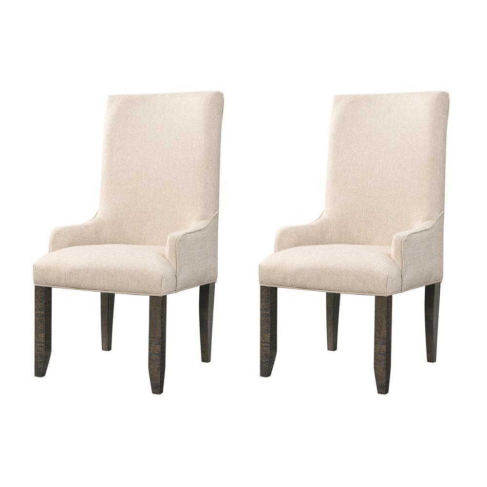 Beau Stanford Walnut Parson Chair Set
