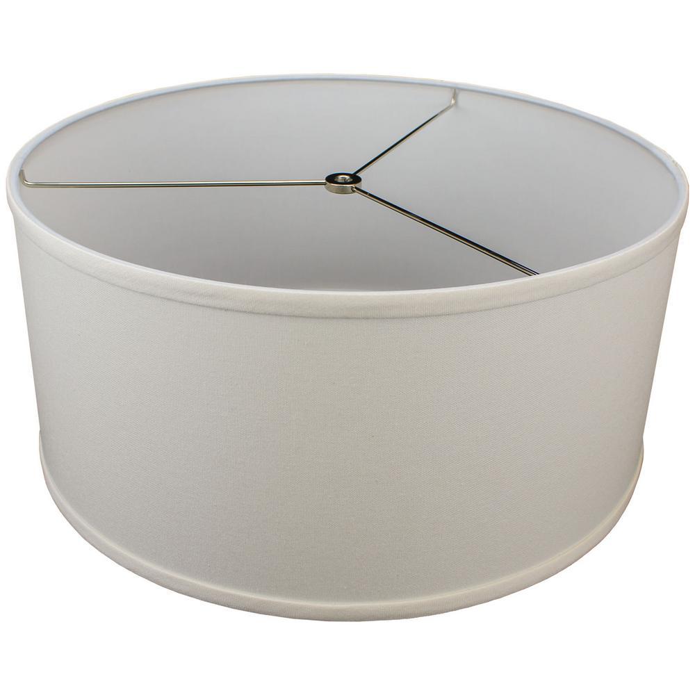 17 in. W x 8 in. H Cream/Nickel Hardware Drum Lamp Shade