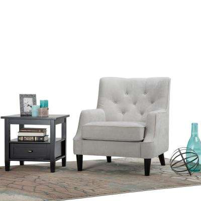 Grange Light Dove Grey Fabric Club Arm Chair