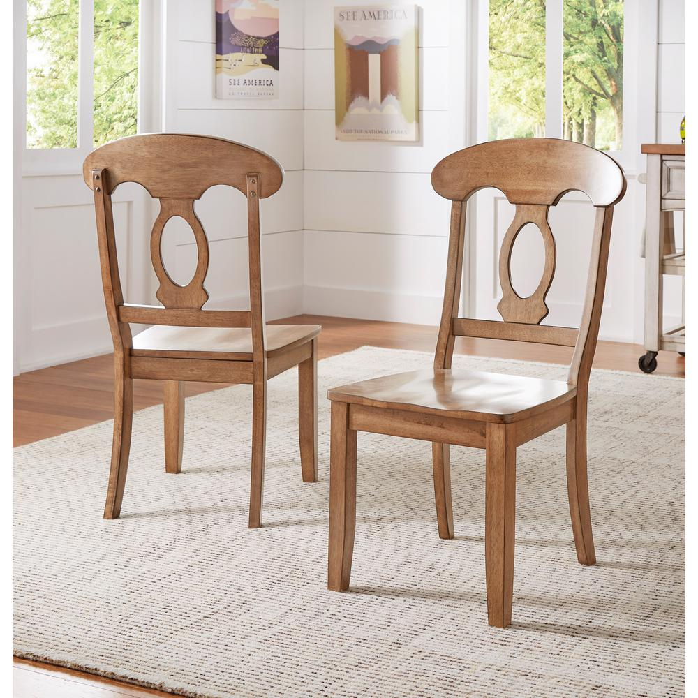 brown leather solid oakita chairs dining furniture chair oak and elle
