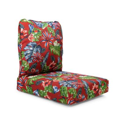 Tropical Square Box Thick Seat Pad Cushion Garden Outdoors Kitchen Multi