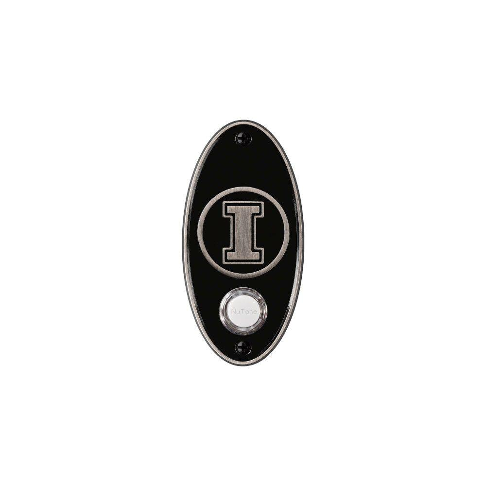 NuTone College Pride University of Illinois Wireless Door Chime Push Button - Satin Nickel