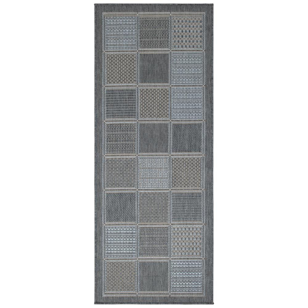 Ottomanson Jardin Collection Contemporary Boxes Design Gray 3 ft. x 7 ft. Outdoor Runner Rug was $28.06 now $19.64 (30.0% off)